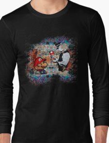 Banksy street art Graffiti London Cop Super Mario Funny Parody Long Sleeve T-Shirt