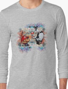 Banksy street art Graffiti London Cop Super Mario Funny Parody Long Sleeve T-Shirt