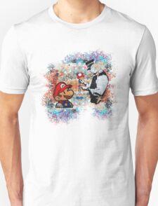 Banksy street art Graffiti London Cop Super Mario Funny Parody Unisex T-Shirt