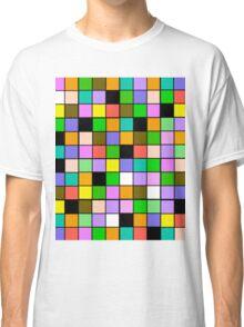 checkerboard Color Blocks Pastel Pattern Classic T-Shirt