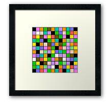 checkerboard Color Blocks Pastel Pattern Framed Print