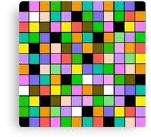checkerboard Color Blocks Pastel Pattern Canvas Print