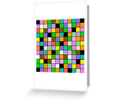 checkerboard Color Blocks Pastel Pattern Greeting Card