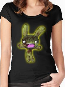 Tombie the Zombie Bunny Women's Fitted Scoop T-Shirt