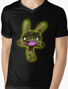Tombie the Zombie Bunny Mens V-Neck T-Shirt