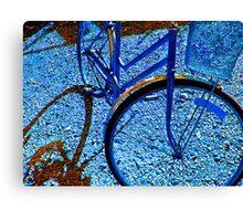blue bike Canvas Print