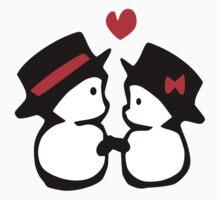 cute snowman couple vector art One Piece - Long Sleeve