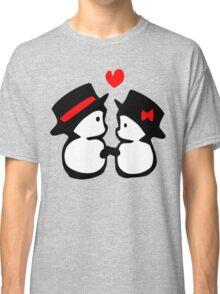 cute snowman couple vector art Classic T-Shirt