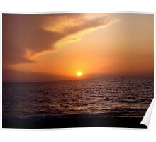 Sunset On the Water Poster