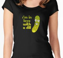 My Husband Boyfriend - I'm In Love With A Dill T-Shirt Sticker Women's Fitted Scoop T-Shirt