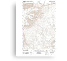 USGS Topo Map Oregon Partridge Creek 20110816 TM Canvas Print
