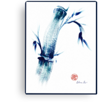 MEDITATE - Zen wash painting Canvas Print