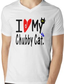 Love my Chubby Cat Mens V-Neck T-Shirt