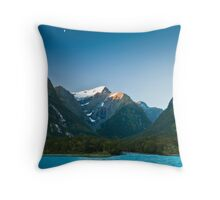 Dusk in Milford Sound Throw Pillow