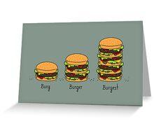 Burger explained: Burg. Burger. Burgest Greeting Card