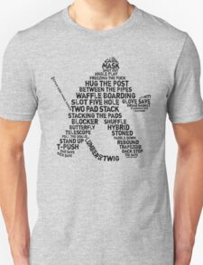 Typographic Hockey Goalie Goaltender Unisex T-Shirt