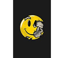 Smiley face skull Photographic Print