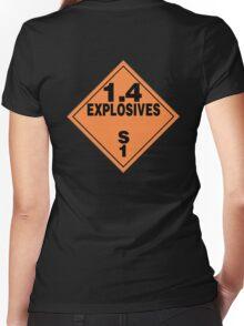 TDG Explosives Women's Fitted V-Neck T-Shirt