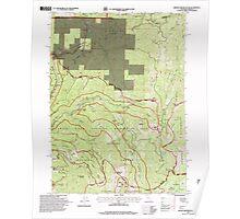 USGS Topo Map California Broken Rib Mountain 100532 1996 24000 Poster