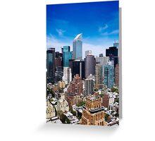 Manhattan by day Greeting Card