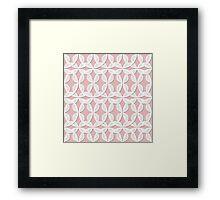 Lace pattern Framed Print