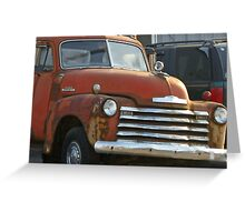 Red and Rusty Truck Greeting Card