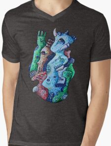 Psychedelic Animals Mens V-Neck T-Shirt