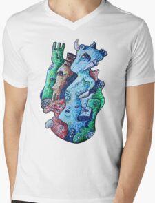 Psychedelic Animals Mens V-Neck T-Shirt