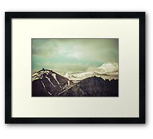 Cloudy Mountains III Framed Print