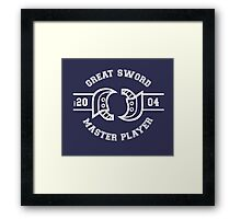 Great Sword - Monster Hunter Framed Print