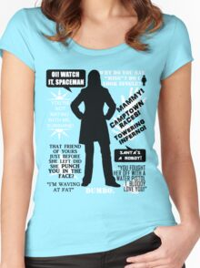Doctor Who - Donna Noble Quotes Women's Fitted Scoop T-Shirt