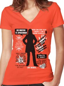 Doctor Who - Donna Noble Quotes Women's Fitted V-Neck T-Shirt