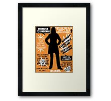 Doctor Who - Donna Noble Quotes Framed Print