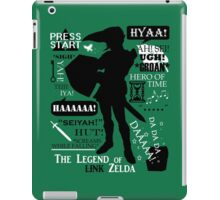 "Legend of Zelda - Link ""Quotes"" iPad Case/Skin"