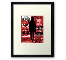 Doctor Who - Clara (Oswin) Oswald Quotes Framed Print