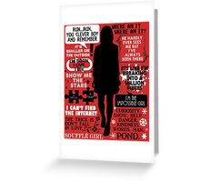 Doctor Who - Clara (Oswin) Oswald Quotes Greeting Card