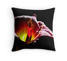 The Purple Moon just rose to greet the Sun  Throw Pillow