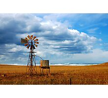 Windmill by the Sea Photographic Print
