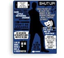 Doctor Who - 12th Doctor Quotes Canvas Print