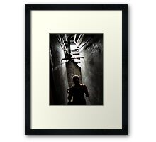 Creeping Down the Stairs Framed Print