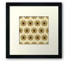 Retro Pop Sunflowers Framed Print