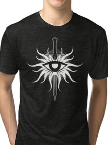 Dragon Age Inquisition Symbol (white) Tri-blend T-Shirt