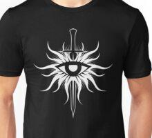 Dragon Age Inquisition Symbol (white) Unisex T-Shirt