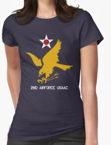 2nd Airforce Emblem Womens Fitted T-Shirt