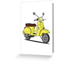 Vespa PX 150 Yellow Greeting Card
