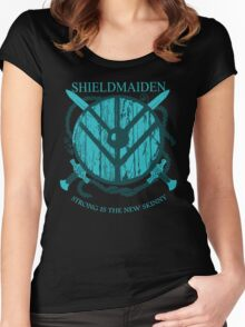 Shieldmaiden - Strong is the new skinny Women's Fitted Scoop T-Shirt