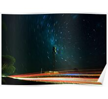 Passing Traffic- Star Trail Poster