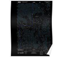 USGS Topo Map Oregon Andies Prairie 20110727 TM Inverted Poster