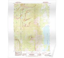USGS Topo Map Oregon Aspen Lake 278890 1985 24000 Poster