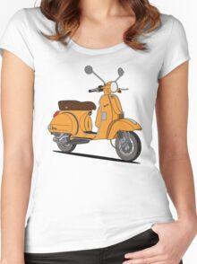 Vespa PX 150 Orange Women's Fitted Scoop T-Shirt